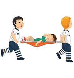 Kids Carry Stretcher vector image
