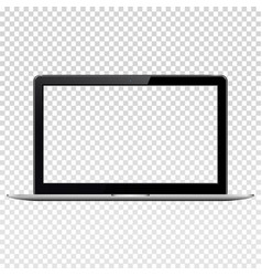 Laptop with transparent screen isolated on vector