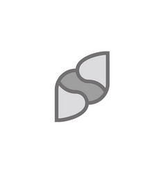 Letter b d motion paper gradient design symbol vector