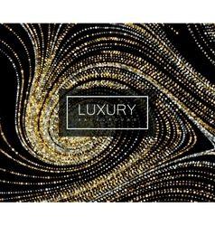 Luxury background with shiny golden glitters vector image