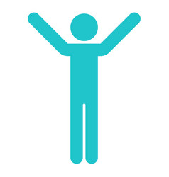 Man sign raised hands vector
