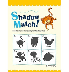 Matching game with many animals vector
