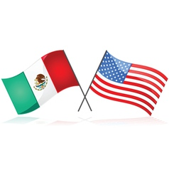 Mexico and the United States vector image vector image