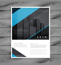 minimal style blue brochure template design vector image