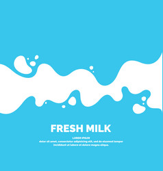 modern poster fresh milk with splashes on a light vector image