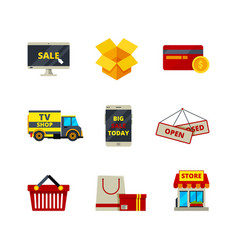 online shopping icon web store payment cards vector image