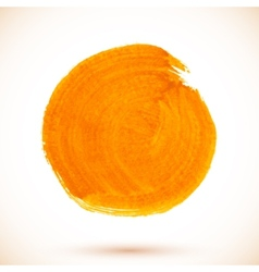 Orange isolated acrylic paint circle vector
