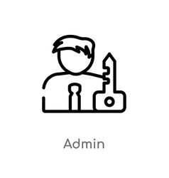 Outline admin icon isolated black simple line vector