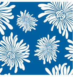 pattern of decorative chrysanthemums vector image