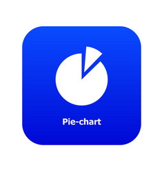 Pie chart icon blue vector