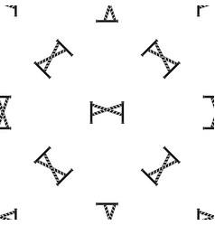 police line pattern seamless black vector image