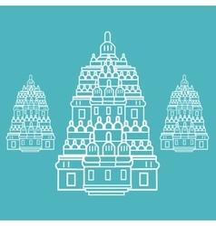 Prambanan Hindu temple Indonesia vector