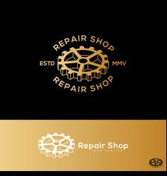 repair shop logo vector image