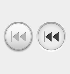 Rewind round white interface buttons normal vector