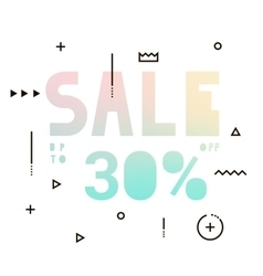 Sale modern banner in holography style vector