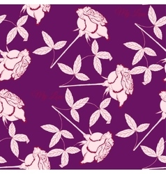 Seamless pattern with pink rose102 vector image