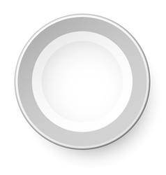 Simple plate view from above isolated on white vector