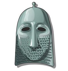 slavic warrior hat or helmet with hauberk or chain vector image