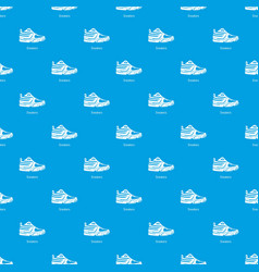 sneakers pattern seamless blue vector image
