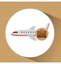 Suitcase vintage travel airplane concept design vector