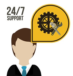 Support design vector image