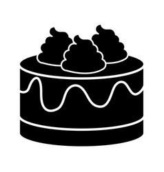 Sweet cake isolated icon vector