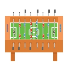 Table soccer pixel art kicker vector