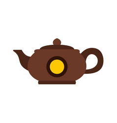 teapot icon flat style vector image
