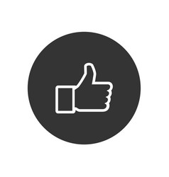 thumb up icon in modern style for web site and vector image