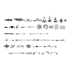 tribal doodle hand drawn vector image