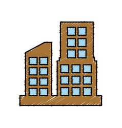 Urban city buildings vector