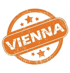 Vienna rubber stamp vector