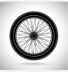 wheel black flat icon vector image