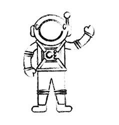astronaut suit spaceman sketch vector image vector image