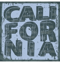 California typography stamp t-shirt graphics vector
