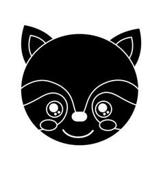 cute raccoon animal head image vector image vector image