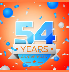 fifty four years anniversary celebration vector image vector image