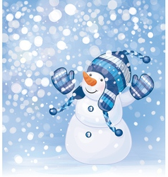 snowman snow vector image vector image