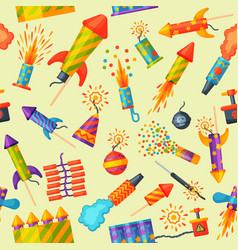 fireworks rocket and flapper birthday party gift vector image vector image