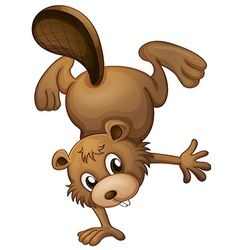 A playful beaver vector image