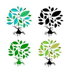 Abstract Tree Set vector image