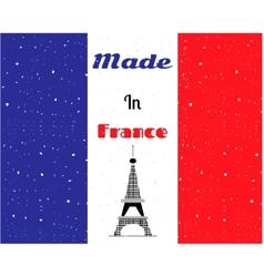 Black Eiffel tower France flag vector image vector image