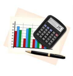 Business concept with finance graphs electronic vector image vector image