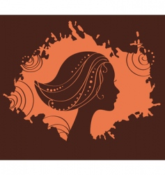 face silhouette vector image vector image