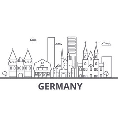 germany architecture line skyline vector image