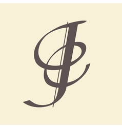 letter J vector image vector image