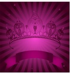 princess crown vector image