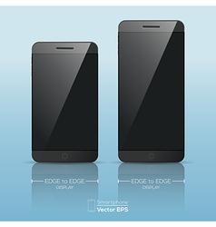Responsive smart phone mock up vector image vector image