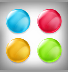 set of 3d design elements glossy icons vector image