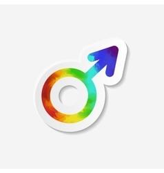 Gender identity icon Male Mars symbol vector image vector image